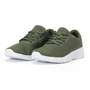 Ανδρικά πράσινα διχτυωτά αθλητικά παπούτσια   2
