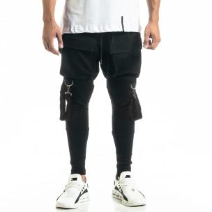 Ανδρικό μαύρο παντελόνι Hip Hop Jogger 2