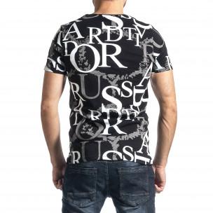 Ανδρική μαύρη κοντομάνικη μπλούζα Lagos  2
