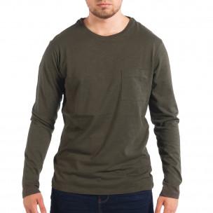 Ανδρική πράσινη μπλούζα με τσέπη RESERVED