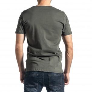 Ανδρική πράσινη κοντομάνικη μπλούζα Lagos 2