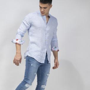 Ανδρικό γαλάζιο πουκάμισο RNT23