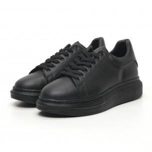 Ανδρικά μαύρα sneakers με χοντρή σόλα  2