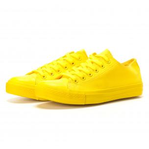 Ανδρικά κίτρινα sneakers Bella Comoda  2