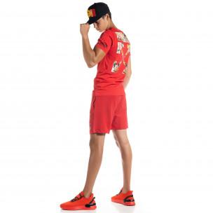 Ανδρικό κόκκινο αθλητικό σέτ Naruto