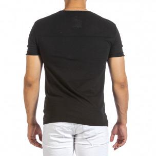 Ανδρική μαύρη κοντομάνικη μπλούζα Made in Italy 2