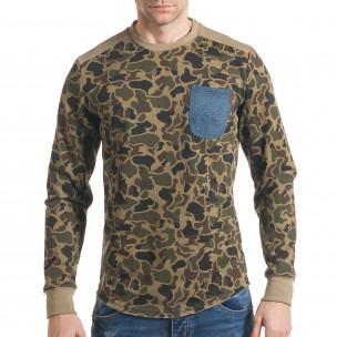 Ανδρική καμουφλαζ μπλούζα Bread & Buttons