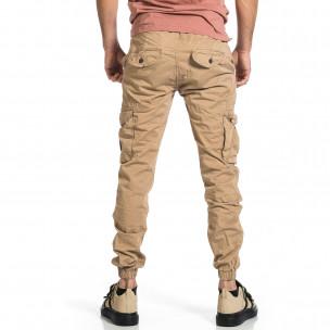 Ανδρικό μπεζ παντελόνι cargo Blackzi  2