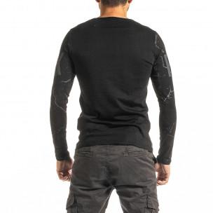Ανδρική μαύρη μπλούζα Punk 2