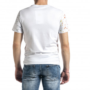 Ανδρική λευκή κοντομάνικη μπλούζα Breezy  2