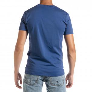 Ανδρική γαλάζια κοντομάνικη μπλούζα D.Park 2