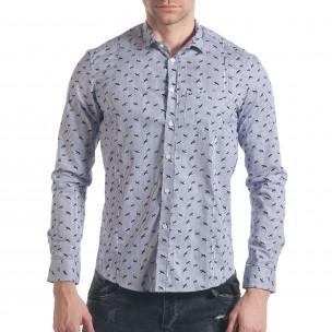 Ανδρικό γαλάζιο πουκάμισο Furia Rossa