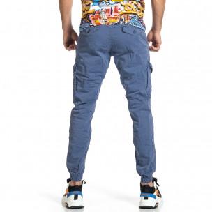 Ανδρικό γαλάζιο παντελόνι cargo jogger  2