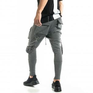 Ανδρικό γκρι παντελόνι Hip Hop Jogger