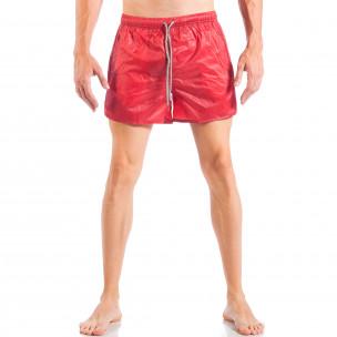 Ανδρικό κόκκινο μαγιό απλό μοντέλο