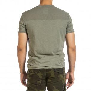 Ανδρική πράσινη κοντομάνικη μπλούζα Made in Italy 2