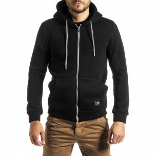 Ανδρικό πυκνός μαύρο φούτερ