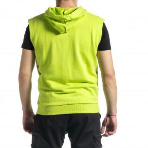 Ανδρικό πράσινο αμάνικο φούτερ Clang Clang 2