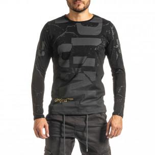 Ανδρική μαύρη μπλούζα Punk