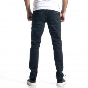 Ανδρικό σκούρο μπλε τζιν Long Slim  2