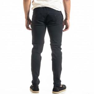 Ανδρικό μπλε παντελόνι Slim fit Chino 2