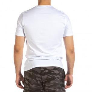 Ανδρική λευκή κοντομάνικη μπλούζα Soni Fashion 2