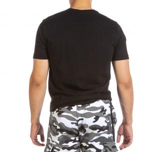 Ανδρική μαύρη κοντομάνικη μπλούζα Soni Fashion 2