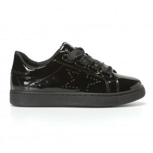 Γυναικεία μαύρα sneakers Mimsoga
