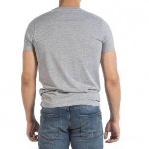 Ανδρική γκρι κοντομάνικη μπλούζα Hey Boy 2