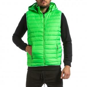 Ανδρικό πράσινο αμάνικο μπουφάν Adrexx