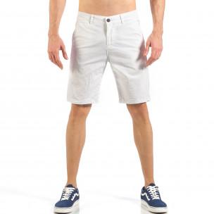 Ανδρική λευκή βερμούδα απλό μοντέλο