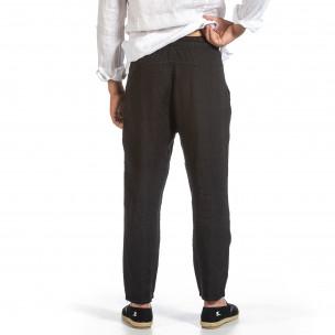 Ανδρικό μαύρο παντελόνι Duca Fashion Duca Fashion 2