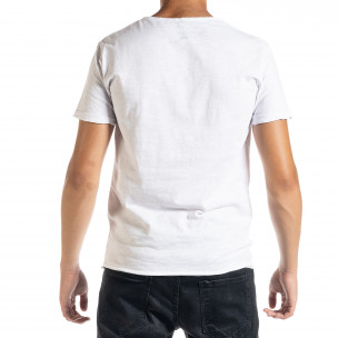Ανδρική λευκή κοντομάνικη μπλούζα Duca Homme 2