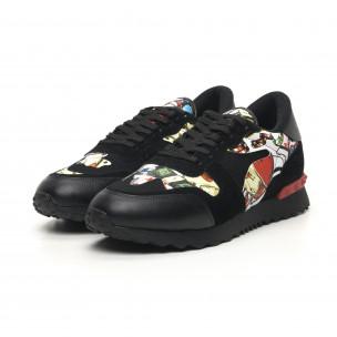 Ανδρικά μαύρα αθλητικά παπούτσια FM 2