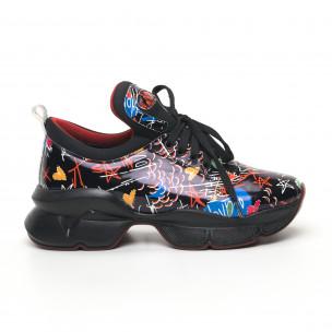 Γυναικεία μαύρα sneakers Bodrum