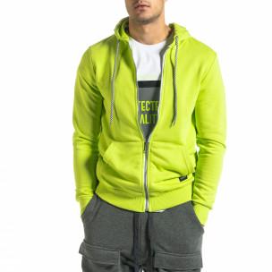 Ανδρικό νέον πράσινο φούτερ Basic