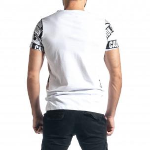 Ανδρική λευκή κοντομάνικη μπλούζα Lagos Lagos 2