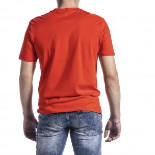Ανδρική πορτοκαλιά κοντομάνικη μπλούζα Breezy 2