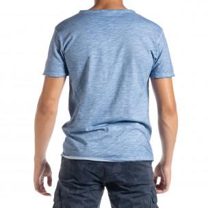 Ανδρική γαλάζια κοντομάνικη μπλούζα Duca Homme 2