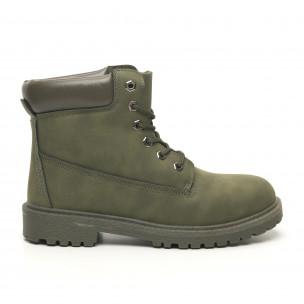 Ανδρικά  military πράσινα μποτάκια κλασικό μοντέλο