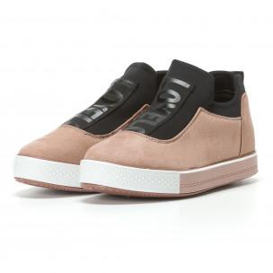 Γυναικεία ροζ sneakers Ideal Shoes 2