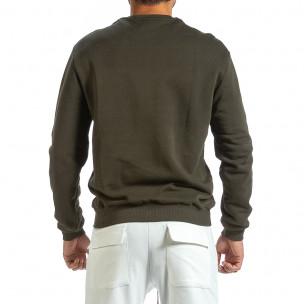 Ανδρική πράσινη μπλούζα με πρίντ 2