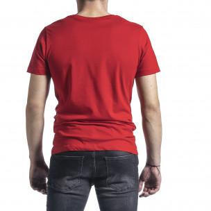 Ανδρική κόκκινη κοντομάνικη μπλούζα Breezy 2