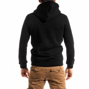 Ανδρικό πυκνός μαύρο φούτερ 2