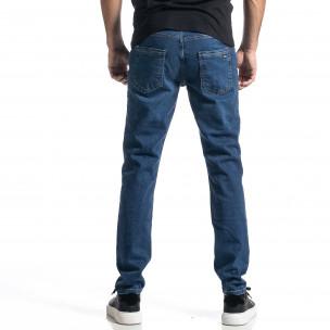 Ανδρικό μπλε τζιν Long Slim  2
