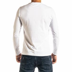 Ανδρική λευκή μπλούζα Jeans Sport 2