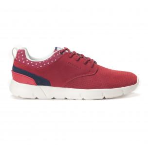 Ανδρικά κόκκινα αθλητικά παπούτσια Montefiori  2
