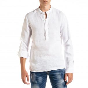 Ανδρικό λευκό πουκάμισο Duca Homme