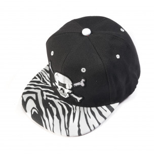 Ανδρικό μαύρο καπέλο με νεκροκεφαλή