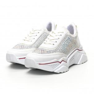 Γυναικεία λευκά sneakers Seribo 2
